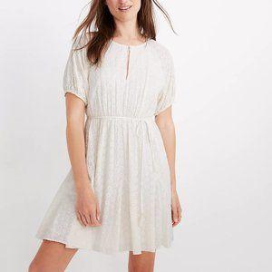 Madewell Eyelet Tassel-Tie Mini Dress Ivory White